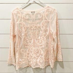 EXPRESS Lace Peach Tunic